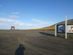 standing between the Yukon and the Northwest Territories