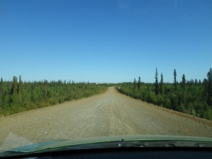 approaching Fort McPherson