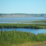 confluence of the Mackenzie and Arctic Red Rivers