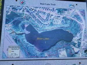 map of Boot Lake