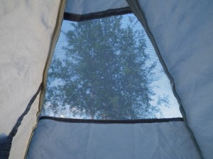 View from the tent; it was too windy to put the fly on!