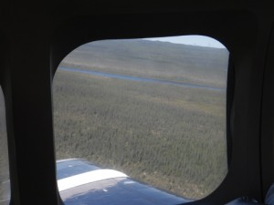 takeoff over the Mackenzie Delta