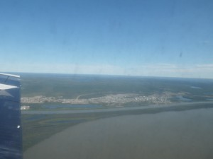 flying over the Mackenzie Delta