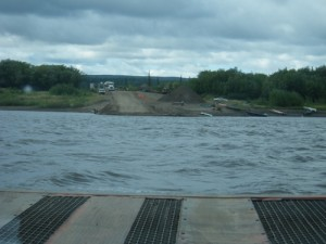 the Peel River was quite choppy on the way back!
