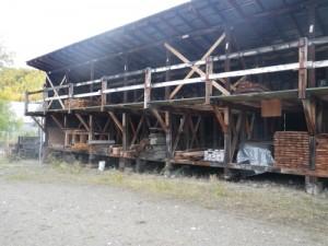 Parks Canada lumber storage