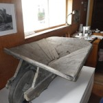 wheelbarrow dug out of the permafrost