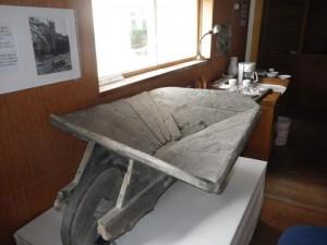 wheelbarrow dug out of the permafrost