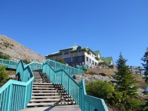 staircase up to the Ice Fields Centre