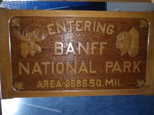 this double-sided sign used to stand a the border between Banff & Jasper national parks