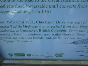 information on Chuckanut drive, formerlly part of the Pacific Coast Highway