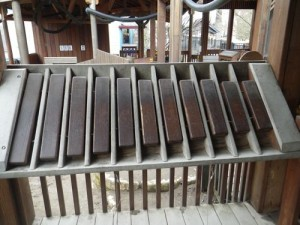 one of several giant xylophones