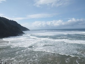 from the parking lot of Heceta Lighthouse