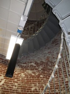 spiral staircase to the top