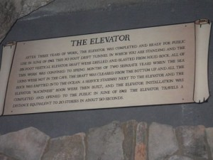information about the building of the Sea Lion elevator