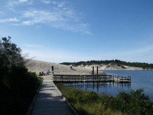 dunes by a lake
