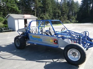 the smaller, more roller-coaster-type, dune buggy