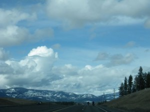 the snowy mountains of Idaho
