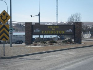 welcome to Cardston, birthplace of Fay Wray