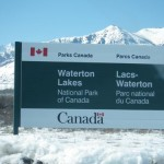 entering Waterton Lakes national park