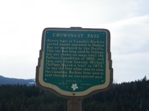another sign about the Crowsnest Pass