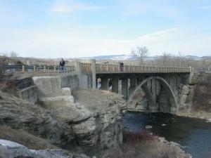 bridge near Lundbreck falls