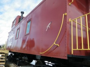 exterior of the caboose cabin