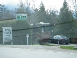 RV park right across from the Kokanee Brewery!