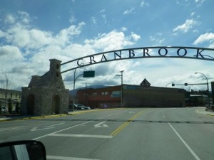 Cranbrook sign, similar to the one in Sparwood
