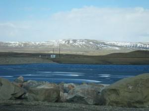 gorgeous lake (manmade, I think)
