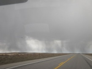 driving into a storm