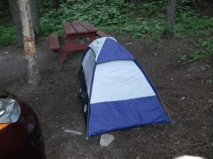 my 'one night only' tent