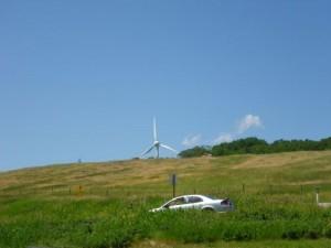 wind mill at Lundbreck Falls