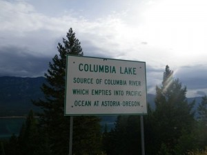 Columbia Lake, source of the Columbia River