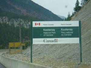 entrance to Kootenay National Park