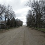 looking down main street towards Willow Bunch (18KM away)
