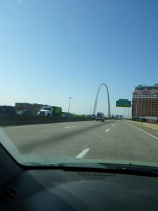 first good glimpse of the Arch