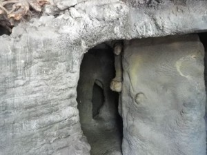 cave tunnel to crawl through
