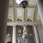 gorgeous ceiling and a statue of Thomas Jefferson