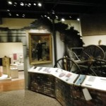 this replica of a burned building symbolizes the perils 19th century St Louis experienced