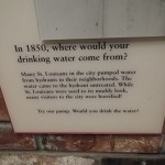 explanation of where water came from in 19th century St Louis (hydrants that spewed very muddy water)