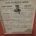 copy of someone's water license (late 19th century)