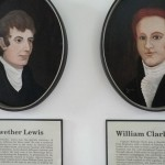 Portraits of Lewis and Clark (did you know that William Clark was a flaming red head?)