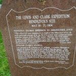 marker noting the site of the Lewis and Clark expedition rendezvous