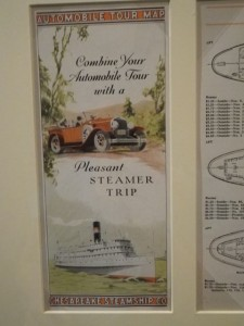 combine your automobile tour with a pleasant steamer trip