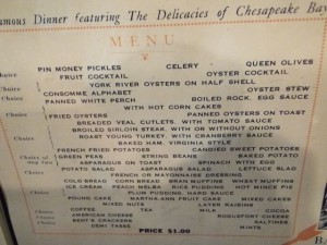 this steamer trip menu looks delicious