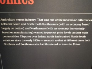 Agriculture vs. industry. This was the most basic difference between the south and north.