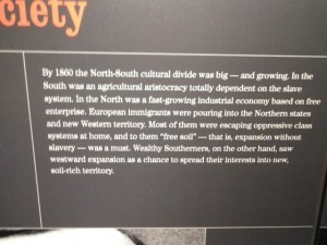 the south was aristocratic while the north favoured free enterprise