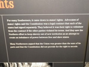 the south felt that the states had more rights while the north felt that the Union should take precedence