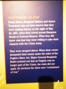 escape Virginian slaves were deemed contraband of war and not returned to their owners after Virginia seceded