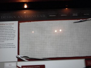 this fun interactive exhibit had us designing our own ironclad